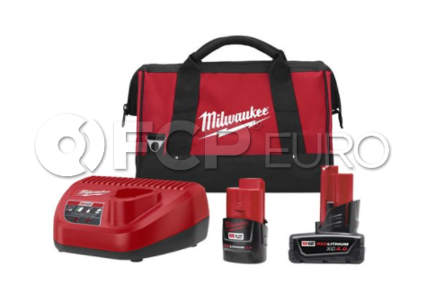 M12 4/2 Amp Starter Pack with Charger - Milwaukee 48-59-2424P