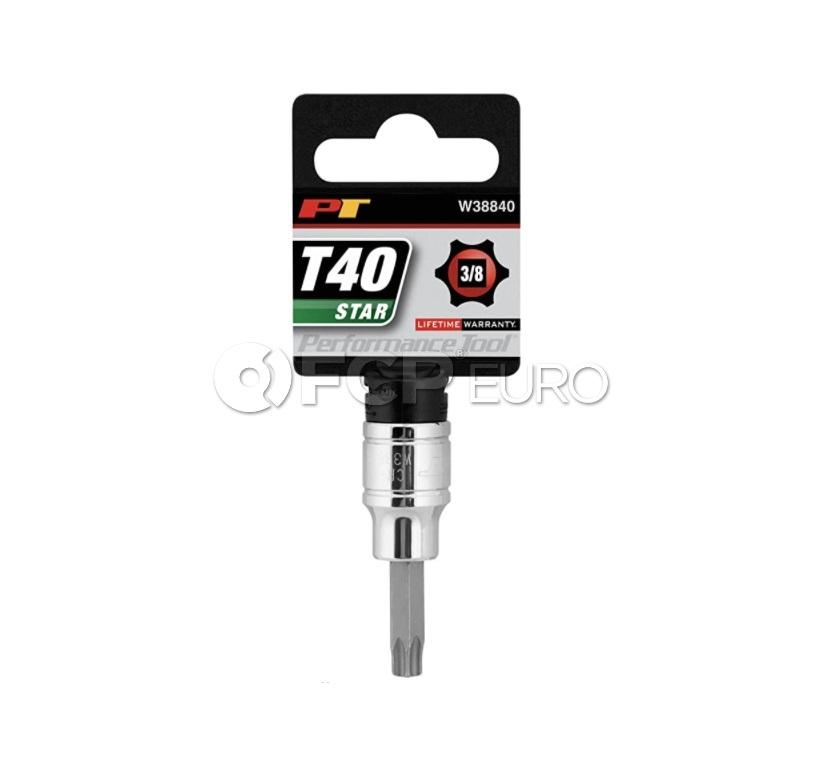 """T40 Star Bit Socket (3/8"""" Drive) - Performance Tool W38840"""