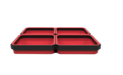 Four Compartment Expandable Magnetic Tray - E-Z Red TRAY-QRD