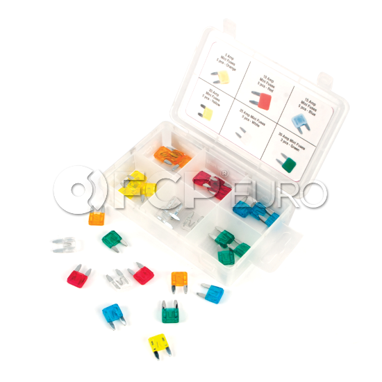 Mini Fuse Assortment 30-Piece - Performance Tool W5371