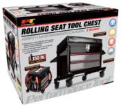 2-Drawer Rolling Mechanics Tool Box Seat - Performance Tool W85024