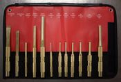 Brass Punch & Chisel Set (12pc) - Mayhew Steel Products 67012