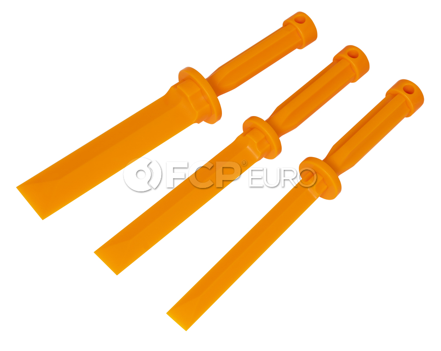 3 Piece Plastic Chisel Scraper Set - Lisle 81200