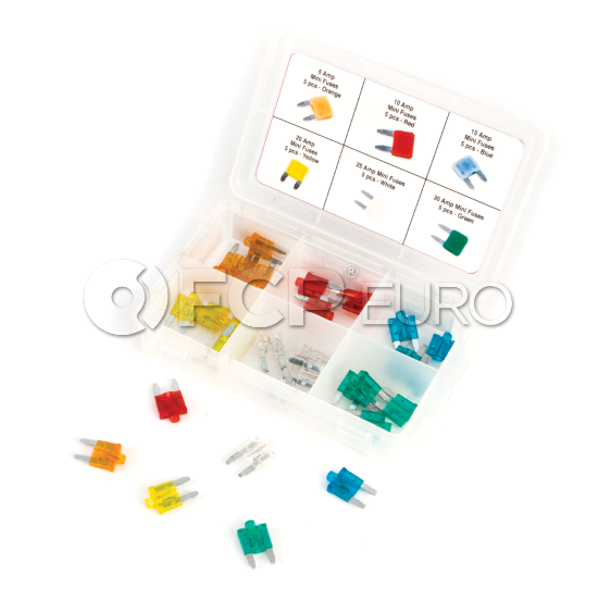 30-Piece Mini Fuse Assortment - Performance Tool W5377