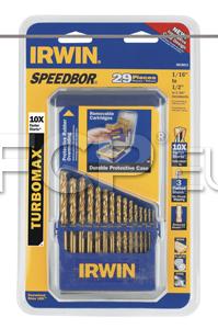 29 Piece Titanium Turbomax Drill Bit Set - Irwin 3018011