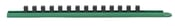 """1/2"""" Drive 15"""" Green Socket Rail Includes 13 Clips - Gearwrench 83111"""