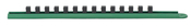 """3/8"""" Drive 15"""" Green Socket Rail Includes 14 Clips - Gearwrench 83110"""