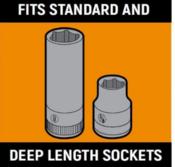 "3 Pc. 1/4"", 3/8"" & 1/2"" Drive Black SAE Socket Storage Tray Set - Gearwrench 83118"