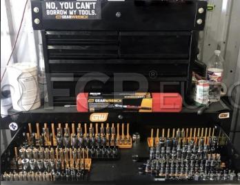 "3 Pc. 1/4"", 3/8"" & 1/2"" Drive Orange Metric Socket Storage Tray Set - Gearwrench 83119"