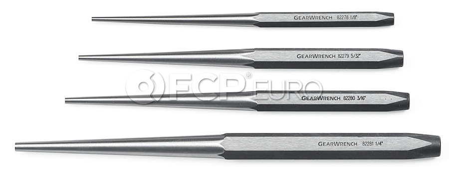 4 Pc. Long Taper Punch Set - Gearwrench 82307