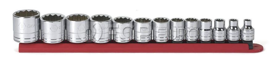 """13 Pc. 3/8"""" Drive 12 Point Standard SAE Socket Set - Gearwrench 80561"""