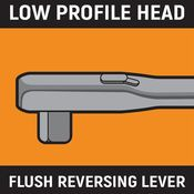 """3/8"""" Drive 90-Tooth Flex Head Teardrop Ratchet 11"""" - Gearwrench 81215T"""