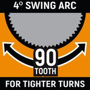 """1/2"""" Drive 90-Tooth Long Handle Dual Material Teardrop Ratchet 16-1/2"""" - Gearwrench 81361T"""
