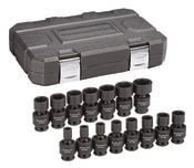 "15 Pc. 3/8"" Drive 6 Point Standard Universal Impact Metric Socket Set - Gearwrench 84918N"