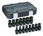 "15 Pc. 1/2"" Drive 6 Point Standard Universal Impact Metric Socket Set - Gearwrench 84939N"