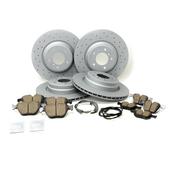 BMW Drilled Brake Kit - Zimmermann/TRW Ultra 34116855000KTFR13