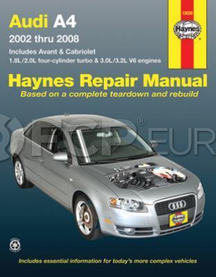 Audi Haynes Repair Manual - Haynes HAY-15030