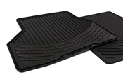 BMW Rubber Floor Mats Set of 2 Black - Genuine BMW 82550305179
