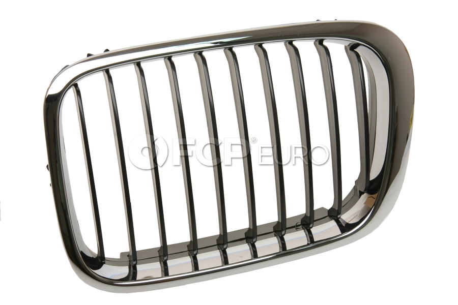 BMW Kidney Grille (Black Slits/Chrome Ring) - BBR 51138208487