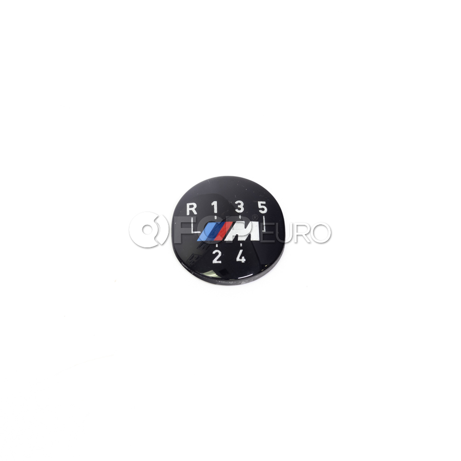 BMW Manual Transmission Shift Knob M Emblem - Genuine BMW 25111221613