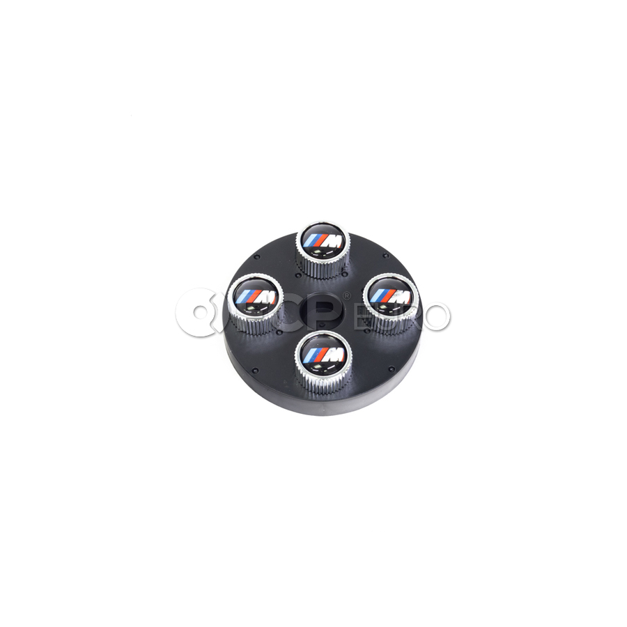 BMW M Logo Valve Stem Cap (Set of 4) - Genuine BMW 36110421543