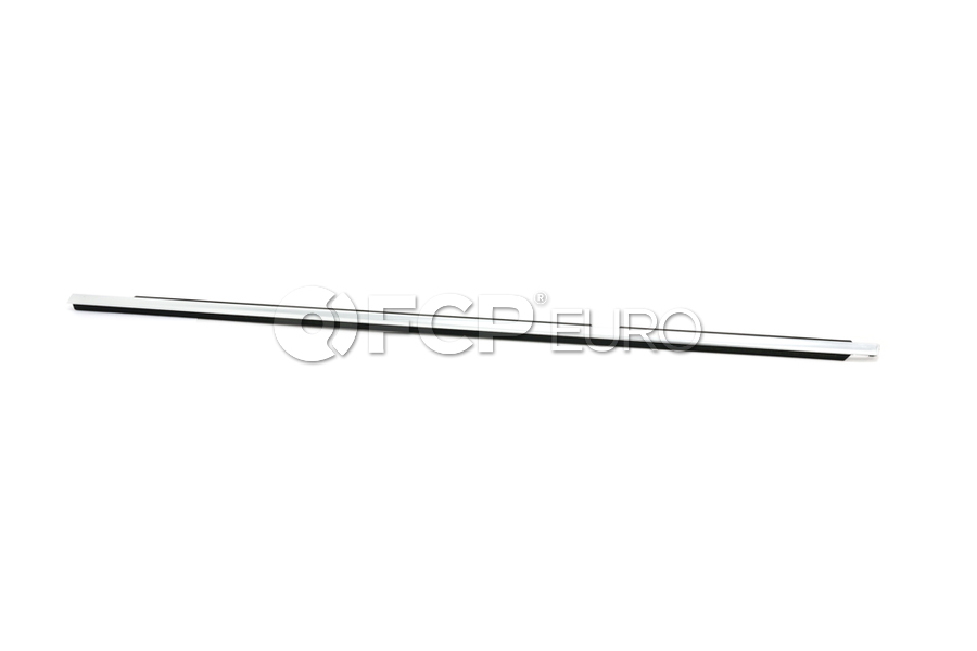 BMW Outer Weatherstrip Rear Left Door (Chrom) - Genuine BMW 51357119215