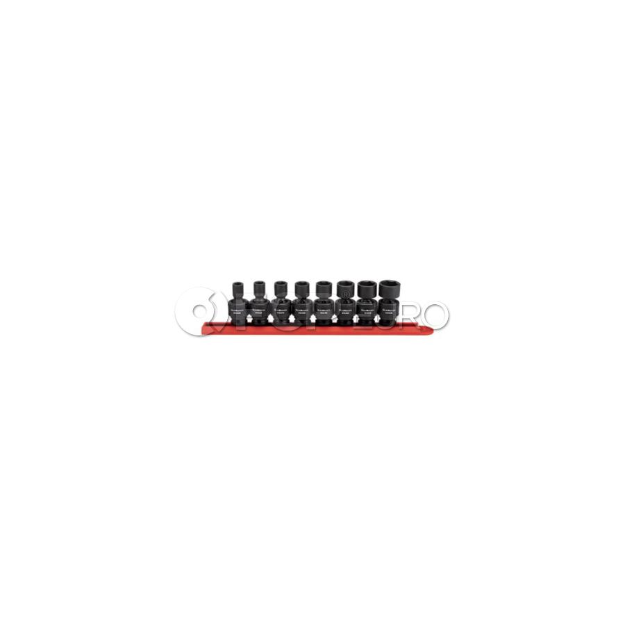 "8 Pc. 3/8"" Drive 6 Point Standard Universal Impact SAE Socket Set - Gearwrench 84917N"