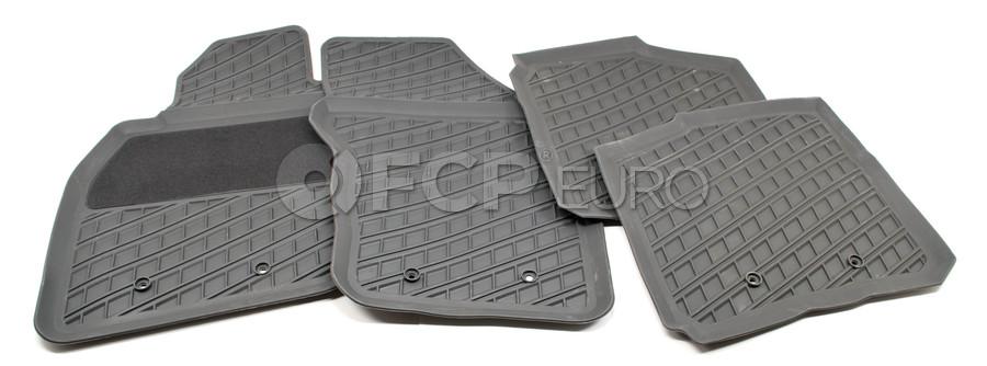 Volvo Rubber Floor Mat Set Off Black - Genuine Volvo 30618364