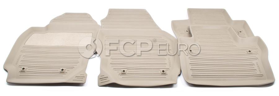 Volvo Rubber Floor Mat Set Mocca Brown - Genuine Volvo 39807566