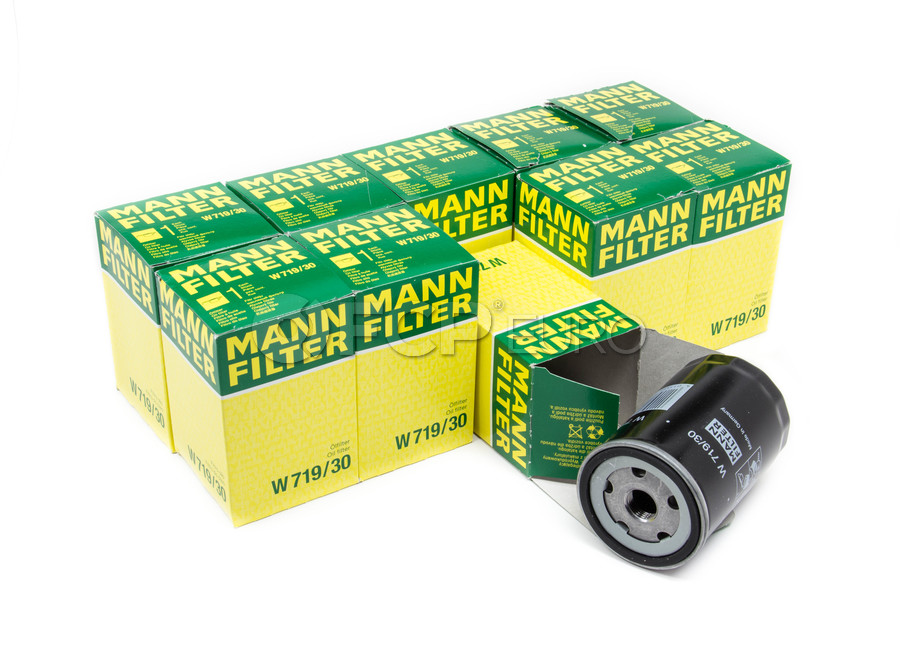 Audi VW Oil Filter Kit (Pack of 10) - Mann 06A115561B