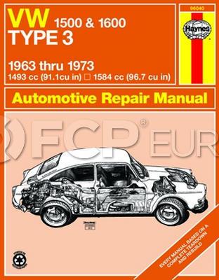 VW Haynes Repair Manual - Haynes HAY-96040