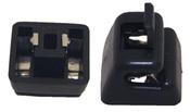 Mercedes Sun Visor Bracket (Black) - Genuine Mercedes 12681000129051