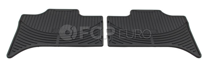 BMW Rubber Floor Mat Set Black - Genuine BMW 82550151190