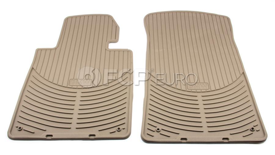 BMW Rubber Floor Mats Beige - Genuine BMW 82550151504